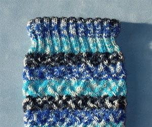 Pam Gordnier making waves hand knit sock pattern
