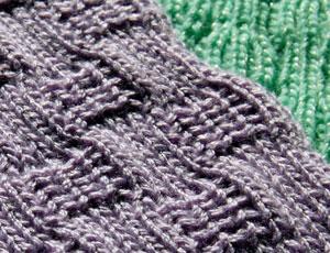 Passap tuckerboard tuck stitch reversible baby blanket afghan swatch scallop edge