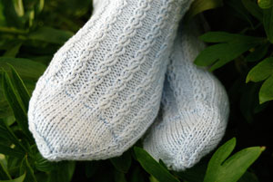 reynolds cantata mock cable twist cotton socks