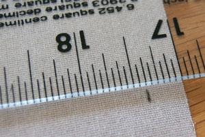sponge bar measure interfacing and mark to cut